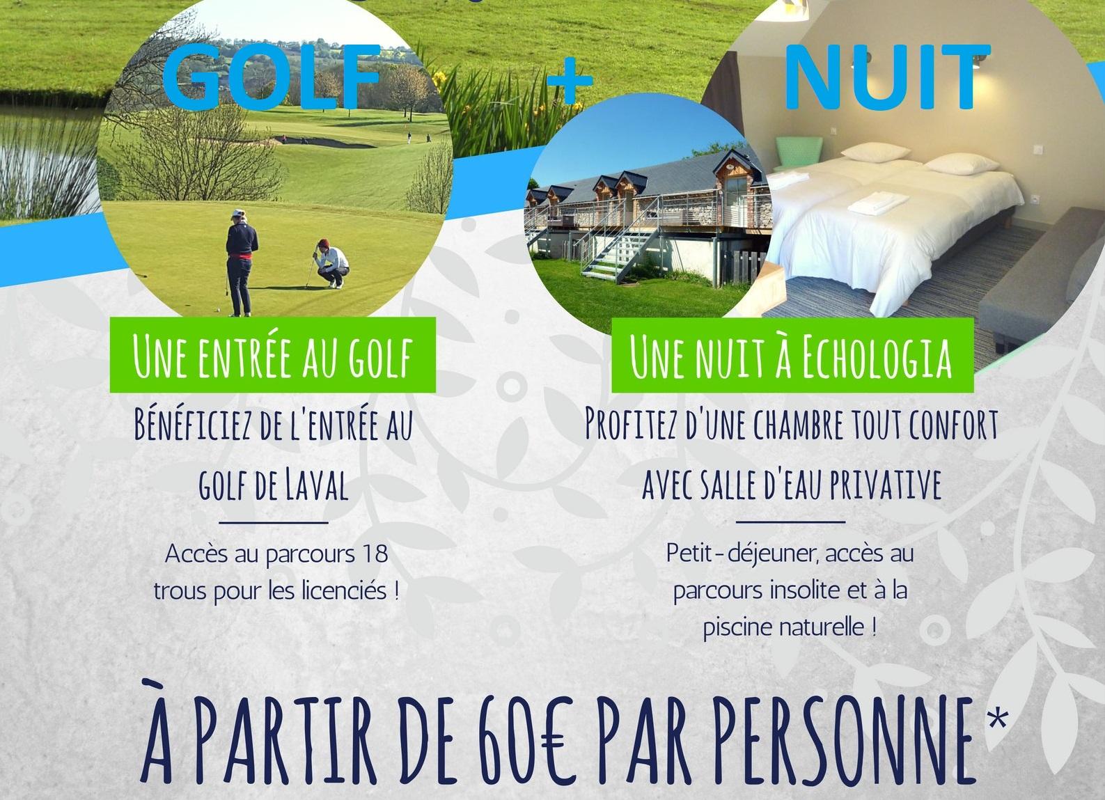 Package GOLF + NUIT en Chambre Chaufournière à partir de 60€/pers. !