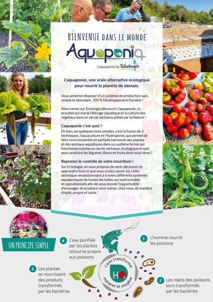 Aquaponie Brochure Volet 2 - Bienvenue dans le monde Aquaponia - Le principe de l'aquaponie