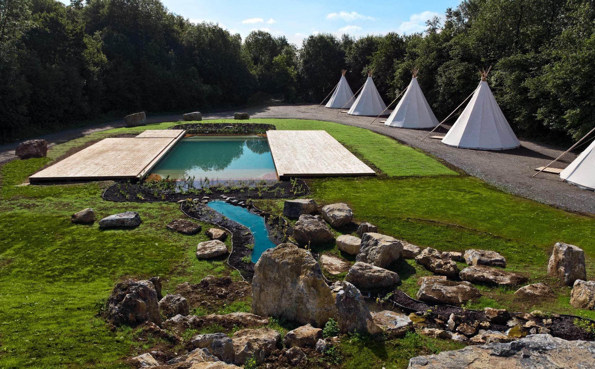 photos Natural swimming pool